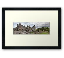 The Grand Hall and North Facade, Dirleton Castle Framed Print