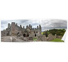 The Grand Hall and North Facade, Dirleton Castle Poster