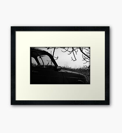 Wrong place, wrong time Framed Print