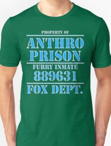 Anthro Prison Furry Inmate Fox T-Shirt