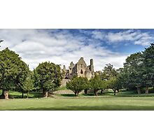 Panoramic View of Dirleton Castle from the Bowling Green Photographic Print