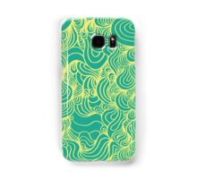 PSYCHOLINES Phone Case- Teal/Yellow Samsung Galaxy Case/Skin