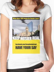 Keep Hosier Real - Hotel Forum Women's Fitted Scoop T-Shirt