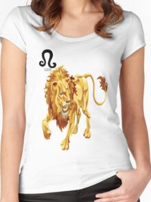 LEO 3D Women's Fitted Scoop T-Shirt