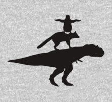 Funny animals dinosaur fox penguin pyramid One Piece - Long Sleeve