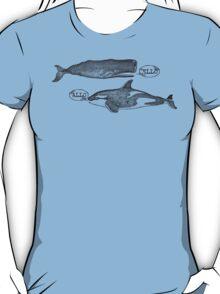funny vintage hello killer whale sperm whale T-Shirt