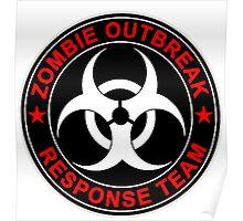 Walking Zombie Response Team Logo Walkers Dead Poster