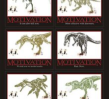 dinosaur chasing joggers anti-motivation by BigMRanch