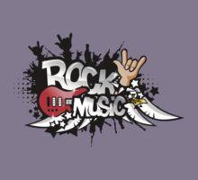 Rock Music T-Shirt by retrorebirth
