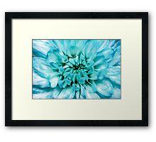 Blue Abstract Flower Framed Print