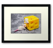 Mice and Cheese Framed Print