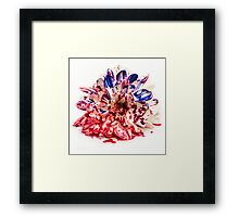 Painted Bloody Flower Framed Print