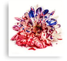 Painted Bloody Flower Canvas Print