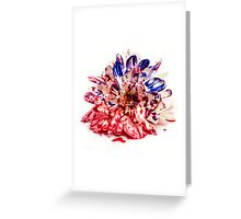 Painted Bloody Flower Greeting Card