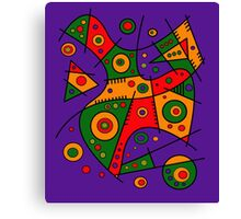 Abstract #240 Pizza Party Canvas Print