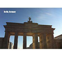 The Brandenburg Gate Photographic Print