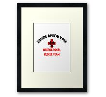 Zombie Response and Rescue Team Walkers Framed Print