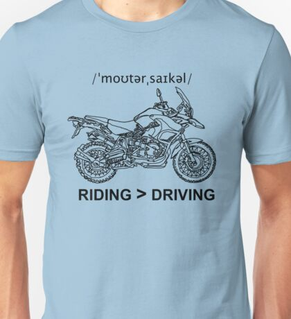 Adventure Bike Style Illustration Unisex T-Shirt