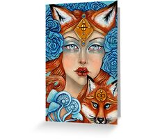 The Fox Maiden Greeting Card