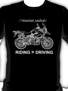 Adventure Bike Style Illustration White Ink for Dark Shirts T-Shirt