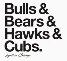 Loyal to Chicago - North Side (Black Print) Kids Clothes