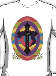 He's Alive Easter Egg and Cross T-Design T-Shirt