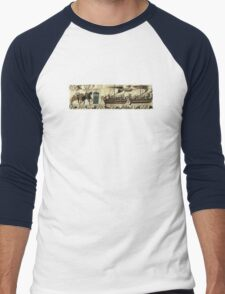 Tardis in the Bayeux tapestry t-shirt Men's Baseball ¾ T-Shirt