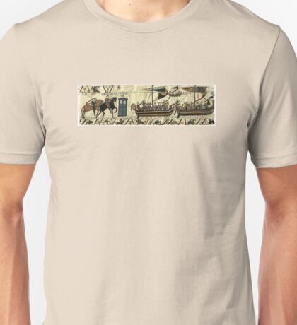 Tardis in the Bayeux tapestry t-shirt Unisex T-Shirt
