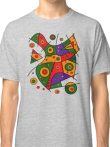 Abstract #240 Pizza Party Classic T-Shirt