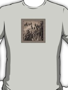 old timey tulips (square) T-Shirt