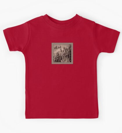 old timey tulips (square) Kids Tee