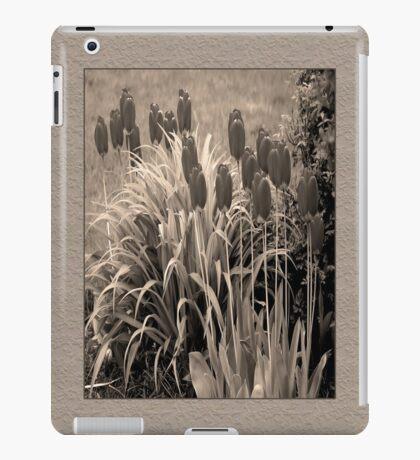 old timey tulips iPad Case/Skin