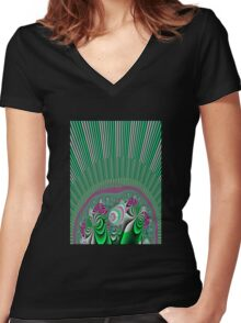 A Burst of Spring Women's Fitted V-Neck T-Shirt