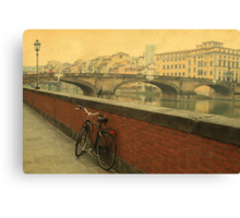 Old bridge in Florence, Italy Canvas Print