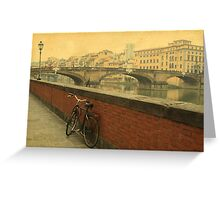 Old bridge in Florence, Italy Greeting Card