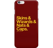 Loyal to D.C. (Goldenrod Print) iPhone Case/Skin