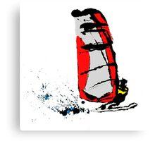 Ink Windsurfer Canvas Print