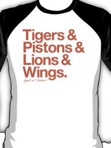 Loyal to Detroit (Orange Print) T-Shirt