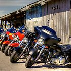 BIKES OUTSIDE RESTAURANT by imagetj