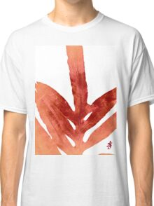 Green Fern Red Fire and White Classic T-Shirt