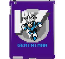 Gemini Man with Blue Text iPad Case/Skin