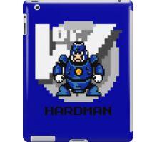 Hard Man with Black Text iPad Case/Skin