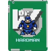 Hard Man with Ice Blue Text iPad Case/Skin