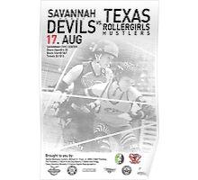Savannah Derby Devils vs. Texas Rollergirls Hustlers Poster
