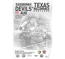 Savannah Derby Devils vs. Texas Rollergirls Hustlers Poster