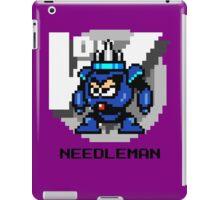 Needle Man with Black Text iPad Case/Skin