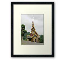 Norwegian Country Church Framed Print