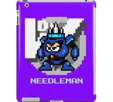 Needle Man with Ice Blue Text iPad Case/Skin