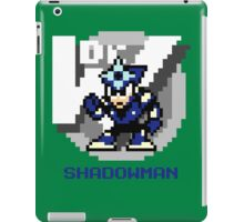 Shadow Man with Blue Text iPad Case/Skin