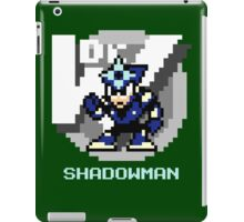 Shadow Man with Ice Blue Text iPad Case/Skin
